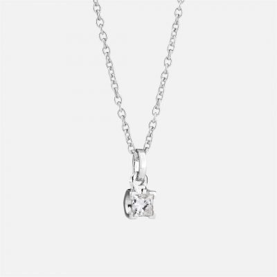 'Princess' necklace in white gold with diamond