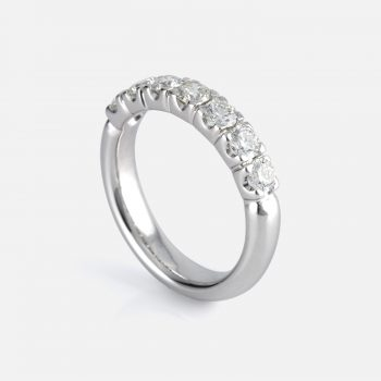 Seven-Claw Ring in white gold and diamonds