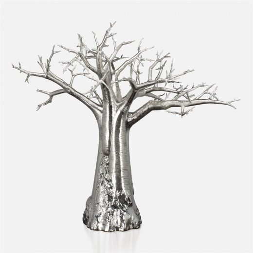 'Embondeiro' tree in chased silver