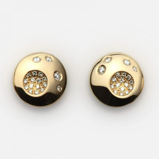 'Summer Sky' earrings in yellow gold and diamonds