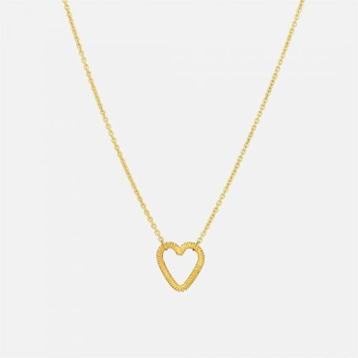 Filigree 'Heart' necklace in yellow gold