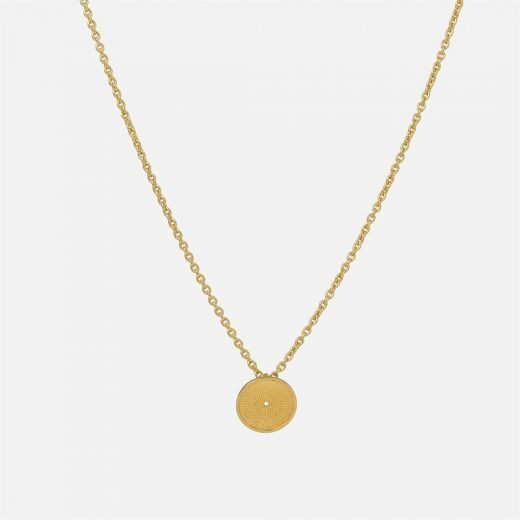 Filigree necklace in yellow gold