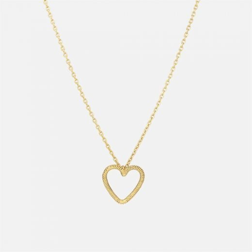 Filigree 'Heart' necklace in gilded silver