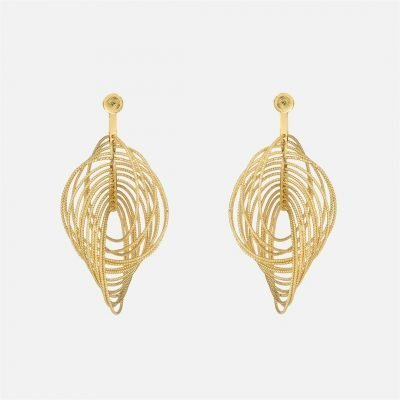 Pair of filigree earrings in gilded silver
