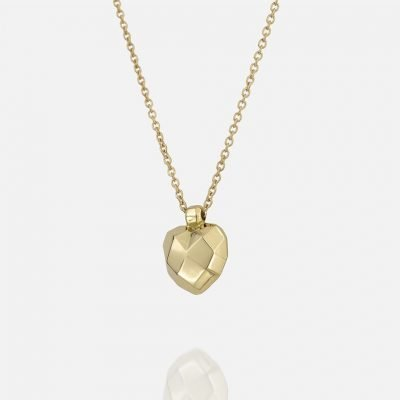 'Heart Faces' necklace in yellow gold