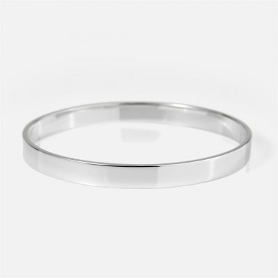 Thick bracelet in silver