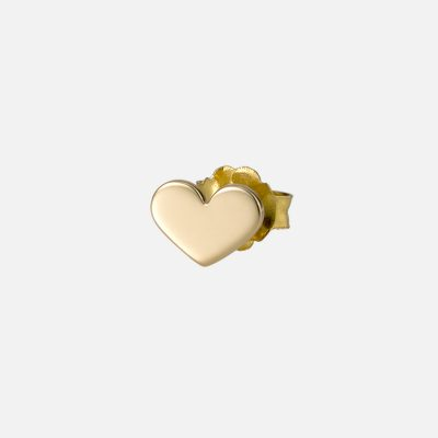 """All My Love"" individual earring in yellow gold"