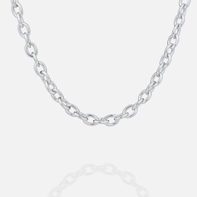 Silver chain 'Trace Round Wide' Ø 8.5mm