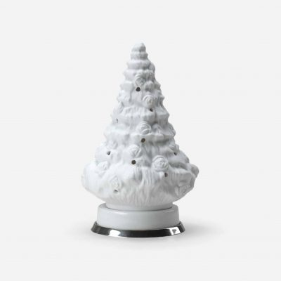 """""""Roses"""" christmas tree in biscuit and silver"""