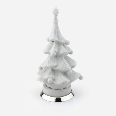 """""""Balls"""" christmas tree in biscuit and silver"""