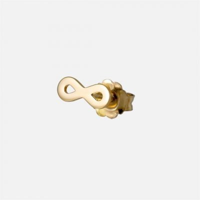 'Forever' individual earring in yellow gold