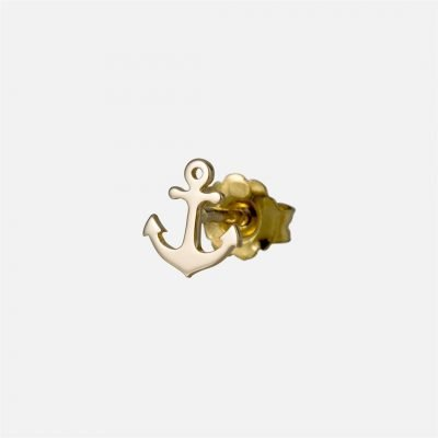 'Safe Haven' individual earring in yellow gold