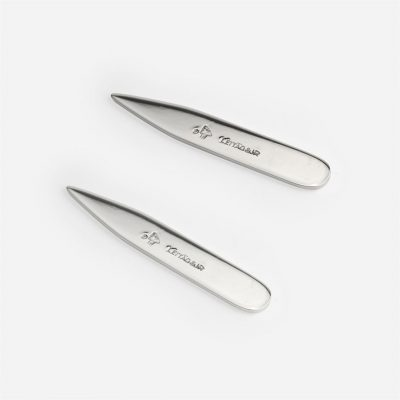 Pair of silver collar stays