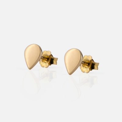 """Daily"" pair of drop-shaped earrings in gold"
