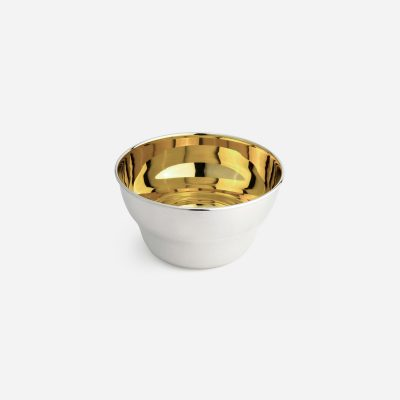 Small salad bowl in silver