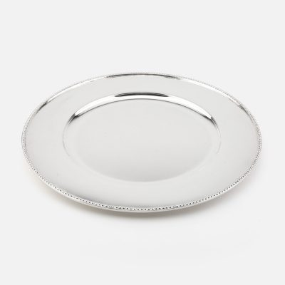"""""""Contas"""" silver charger plate"""
