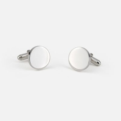 Silver engravable cufflinks