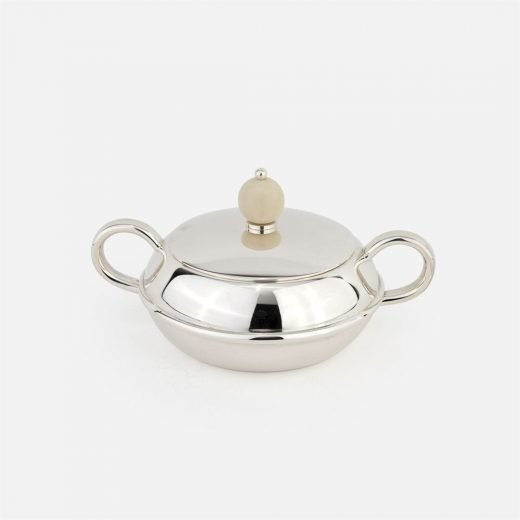 Sugar bowl in silver - Arte Déco tea service