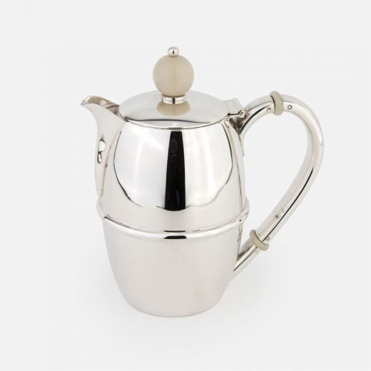 Coffee pot in silver- Arte Déco tea service