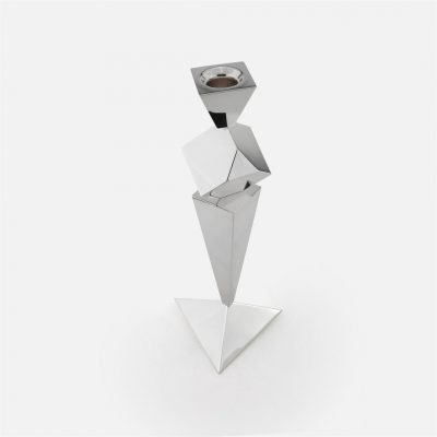 Les Pyramides candlestick in silver