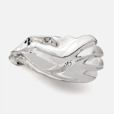Oyster shell in silver