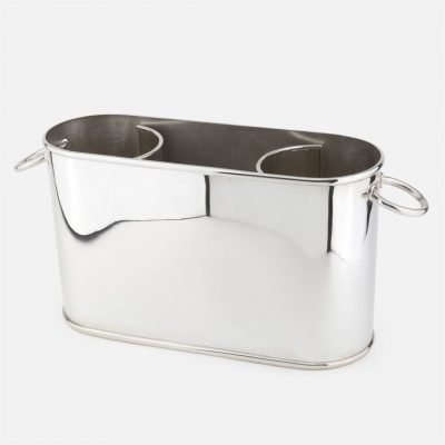 Ice bucket in silver - Oval model