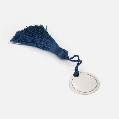 Dark blue bookmark in silver