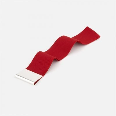 Red bookmark in silver
