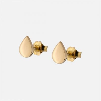 'Daily' pair of drop-shaped earrings in gold