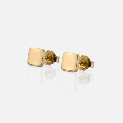 'Daily' pair of square-shaped earrings in gold