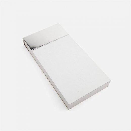 Notepad holder in silver
