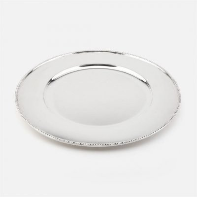 'Contas' silver charger plate