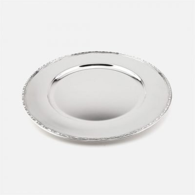 Silver charger plate - Ribbon Model