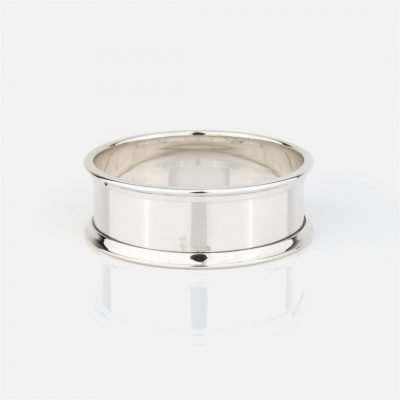 Napkin ring in silver - Flat model