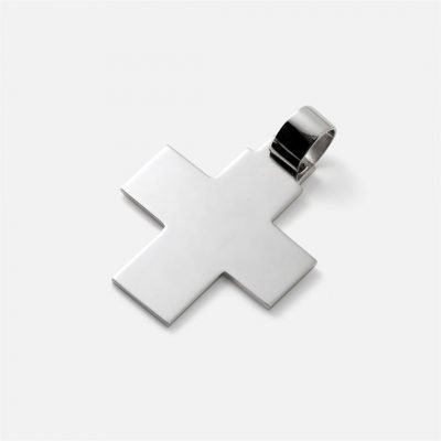 Medium-large silver Cross – square model