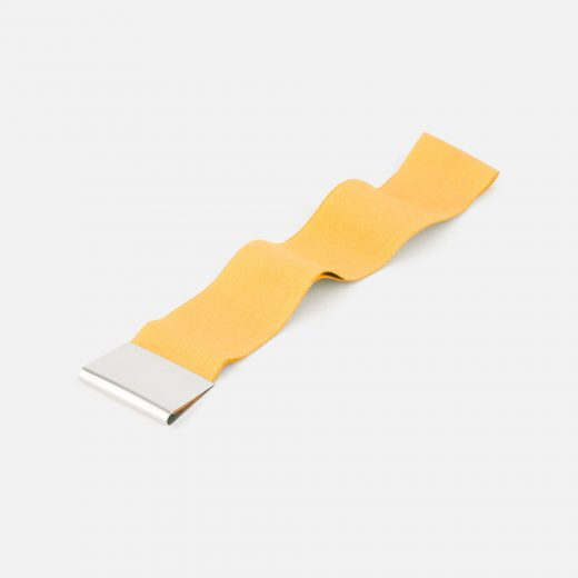 Yellow bookmark in silver