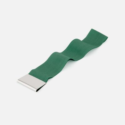 Green bookmark in silver