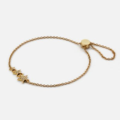 Bracelet Drawn in the Skin Star Constellation in gold and diamonds
