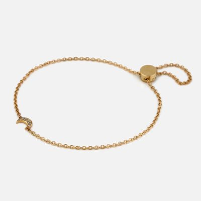 Bracelet Drawn in the Skin Love by the Moon in gold and diamonds