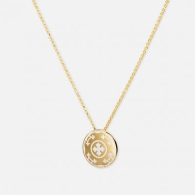 Costa do Castelo Necklace in gold and enamel