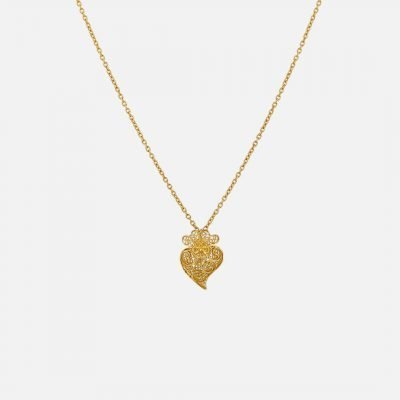 'Heart of Viana' necklace in yellow gold