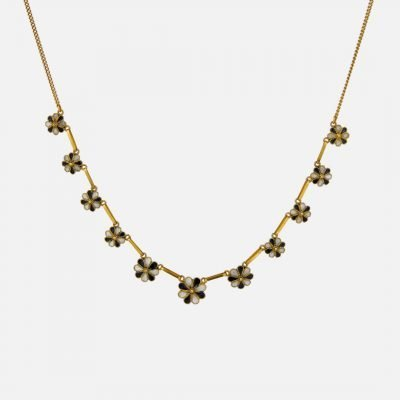 'Flowers' Choker necklace in filigree and enamel