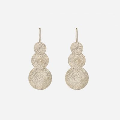 'Rodilhões Crescentes' earrings in sterling silver
