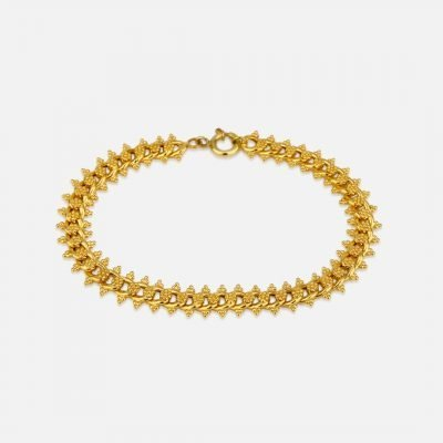 Barbela bracelet with granites in filigree and yellow gold
